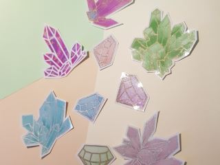 handmade crystal sticker pack