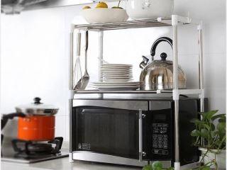 Microwave organizer rack