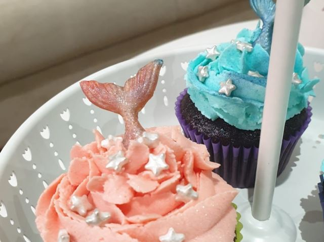Mermaid Vegan Choclate Tail  Cupcake