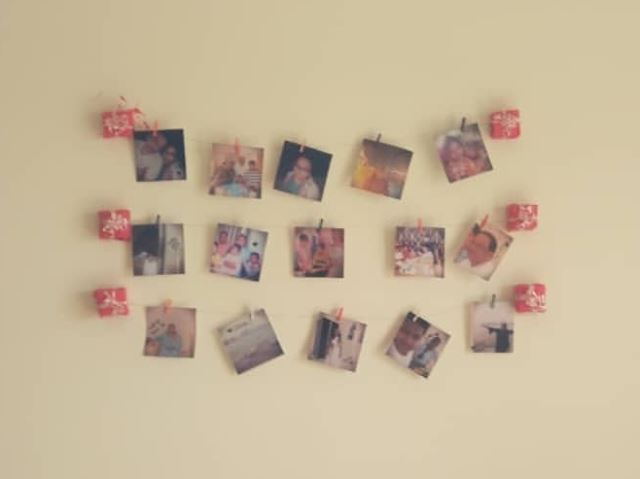 wall decor. photo hanging