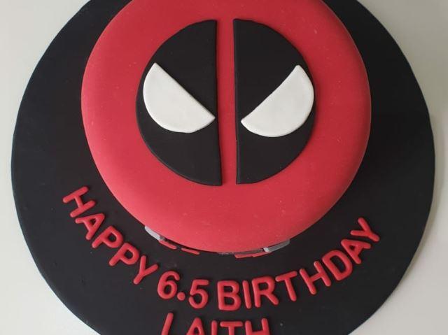 Deadpool theme cake