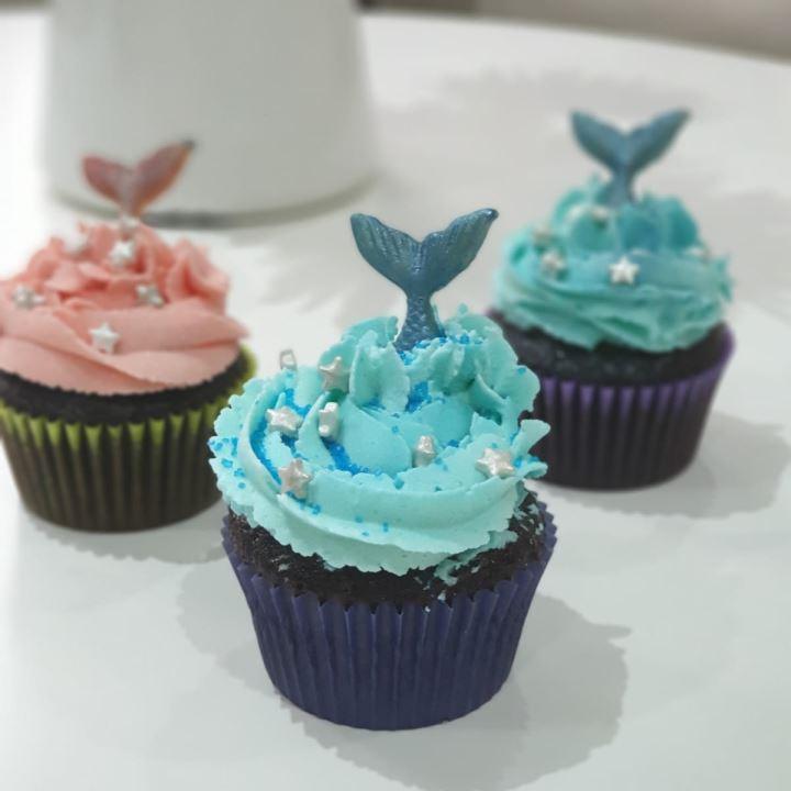 Mermaid Vegan Choclate Tail  Cupcake