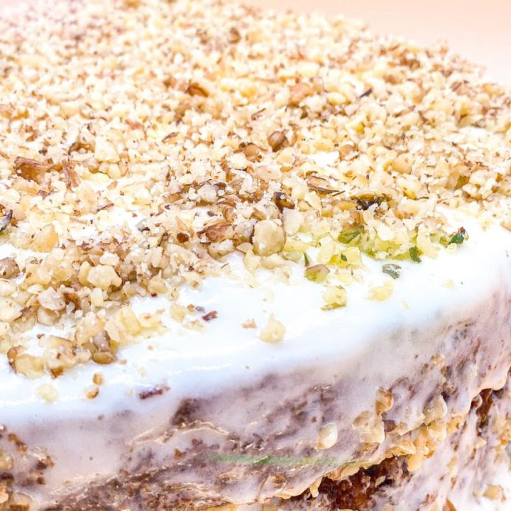 Carrot Cake 🥕 with Pineapple & Nuts