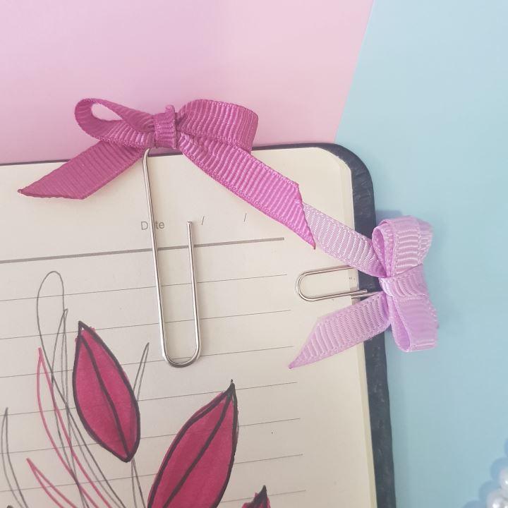 ribbon bow paper clip