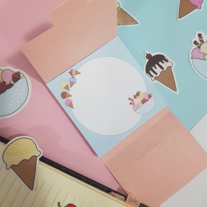 icecream memo pad