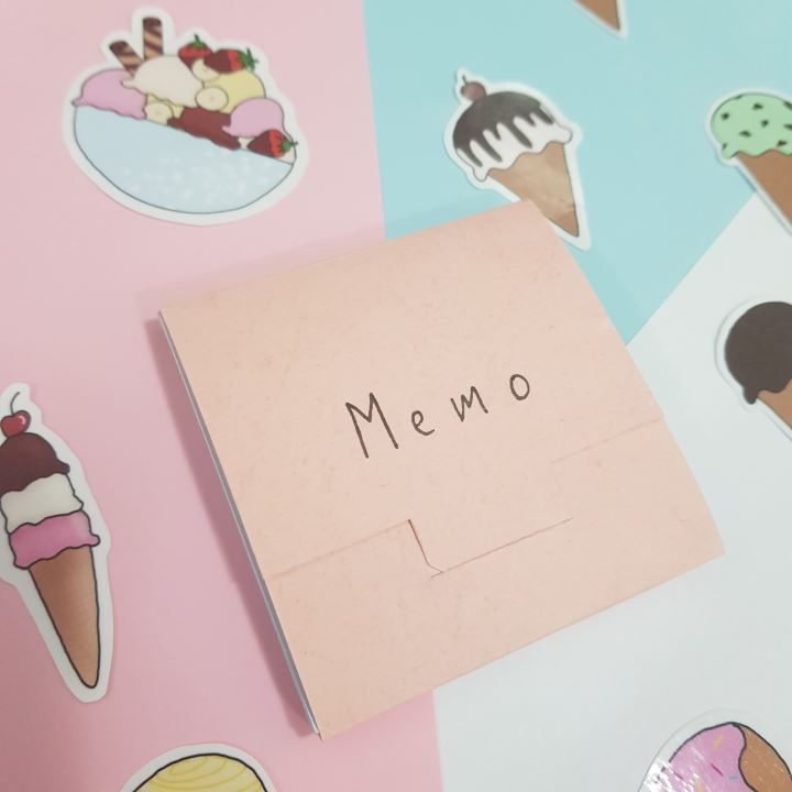 icecream memo pad