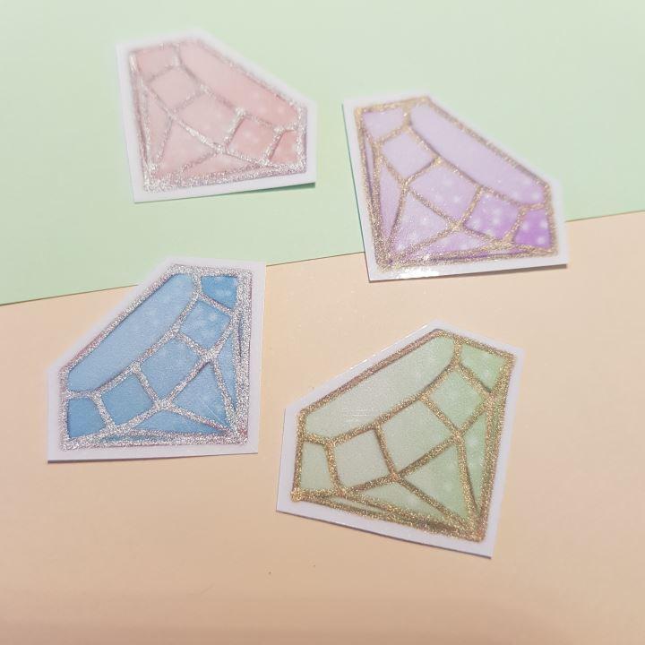 handmade crystal sticker pack