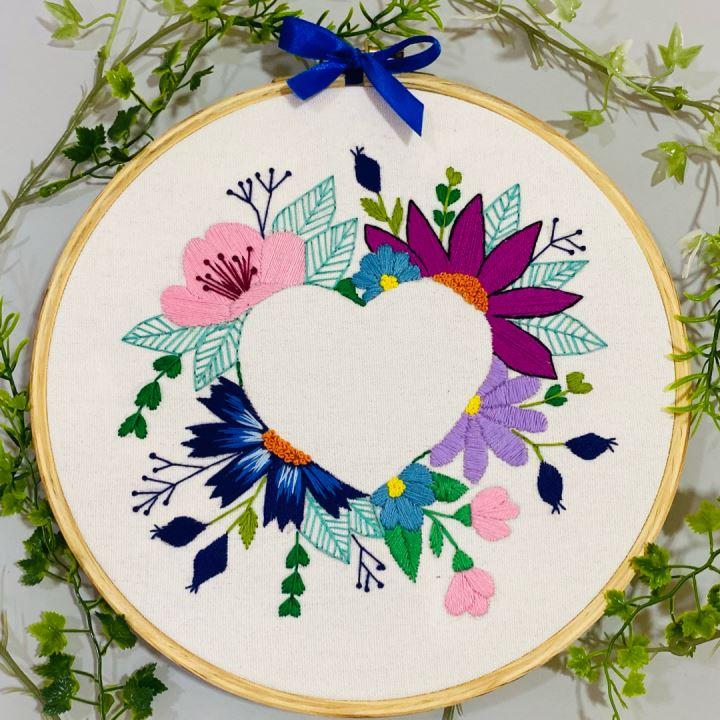floral embroidery hoop
