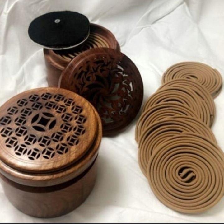 مبخرة خشب للاعواد الذكية الدائرية