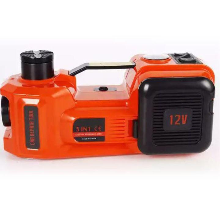 رافعة سيارة كهربائية 3 في 1 مع مفتاح ربط كهربائي